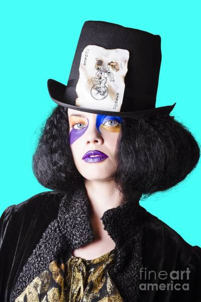 Woman In Joker Costume Art Print