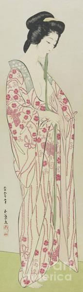 Wall Art - Painting - Woman In Kimono Undergarment, May 1920 By Hashiguchi by Hashiguchi