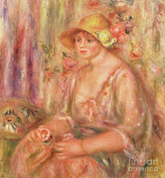 Wall Art - Painting - Woman In Muslin Dress, 1917 by Pierre Auguste Renoir