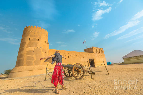 Photograph - Woman In North Of Qatar by Benny Marty