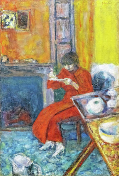 Wall Art - Painting - Woman In Red Bathrobe - Digital Remastered Edition by Pierre Bonnard