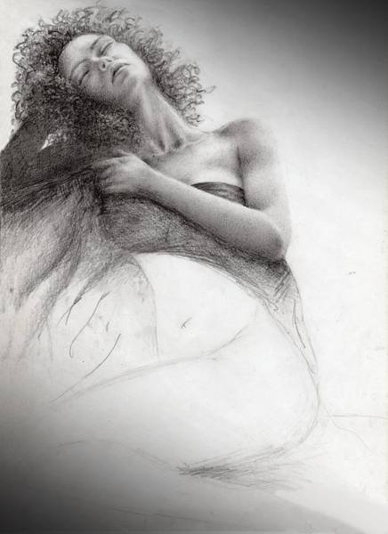 Wall Art - Drawing - Woman In Relax by Sally Gsl