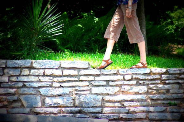 Pedal Wall Art - Photograph - Woman In Sandals And Shorts Walking On by Meredith Winn Photography