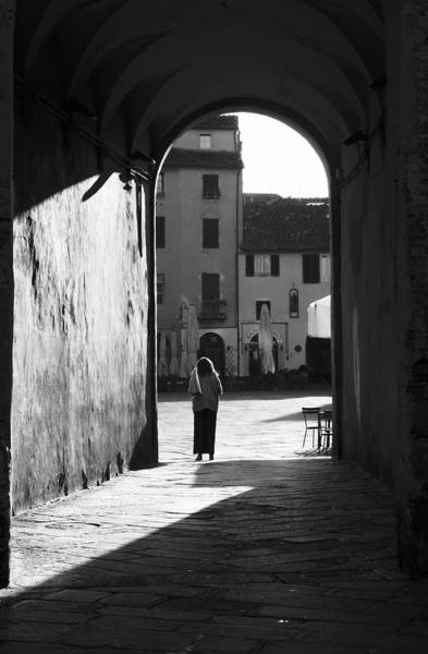 Photograph - Woman In The Arch Lucca Italy by Joan Carroll