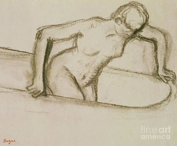 Tub Wall Art - Pastel - Woman In Tub  by Edgar Degas