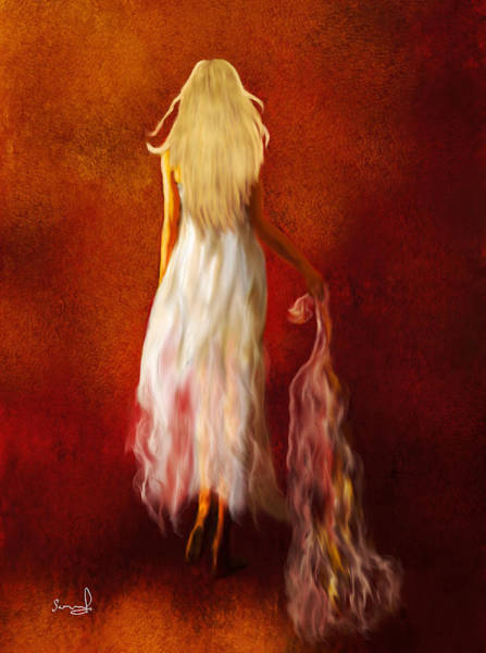 Painting - Woman In White by Sannel Larson