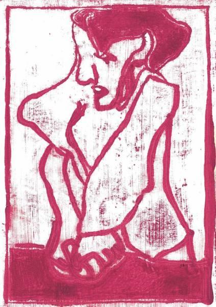 Painting - Woman Kneeding Dough by Artist Dot