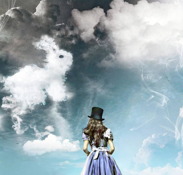 Wall Art - Photograph - Woman Looking At Cloud-shapes, Rear View by Nika Fadul