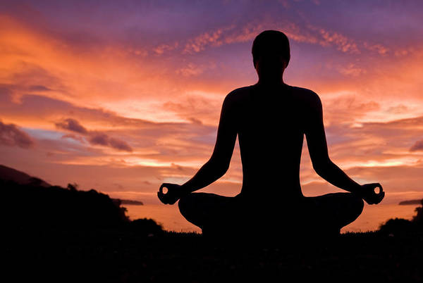 Wall Art - Photograph - Woman Meditating In Sunset by Aleaimage