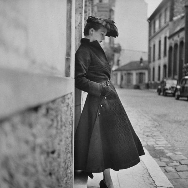 Photograph - Woman Modeling A Back Flared Skirt by Gordon Parks