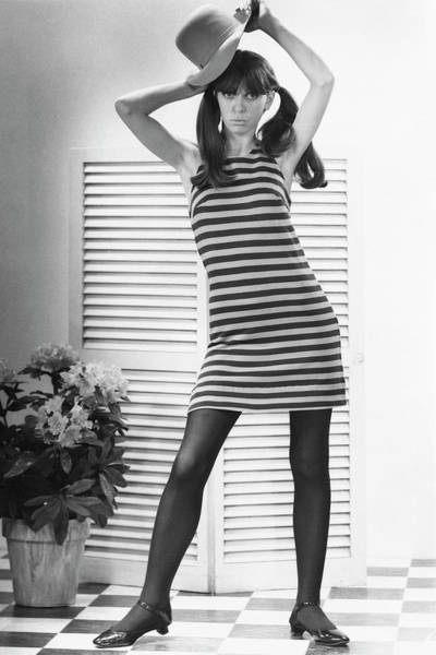 Fashionable Photograph - Woman Modeling Fashion by George Marks
