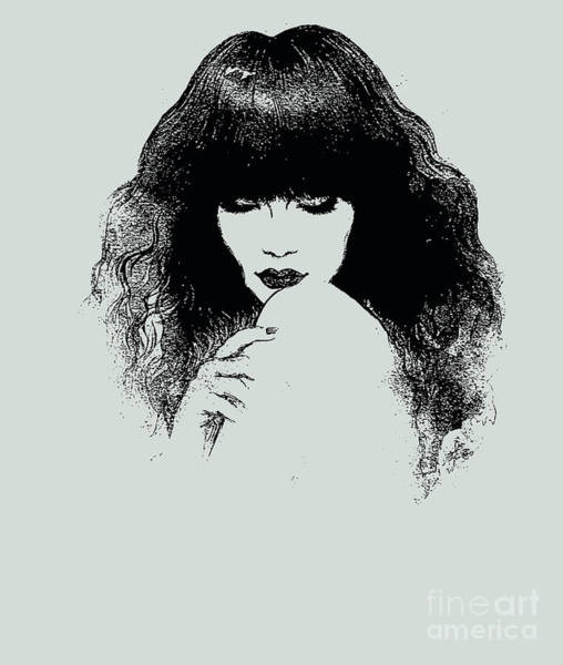 Woman Portrait. Fashion Illustration Art Print