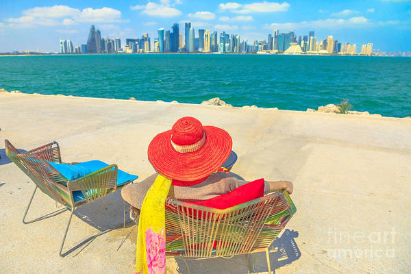 Photograph - Woman Relaxing In Qatar by Benny Marty