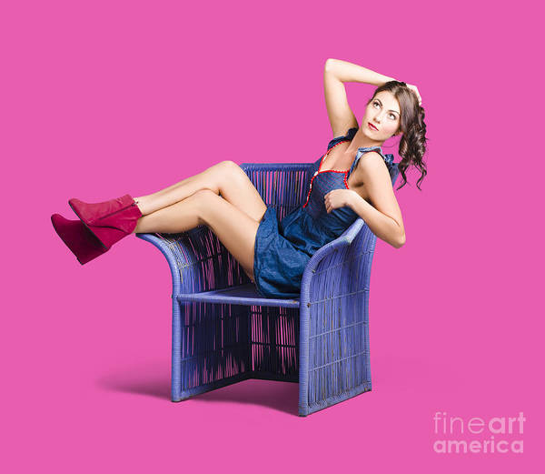 Beauty Salon Photograph - Woman Sitting On A Chair by Jorgo Photography - Wall Art Gallery