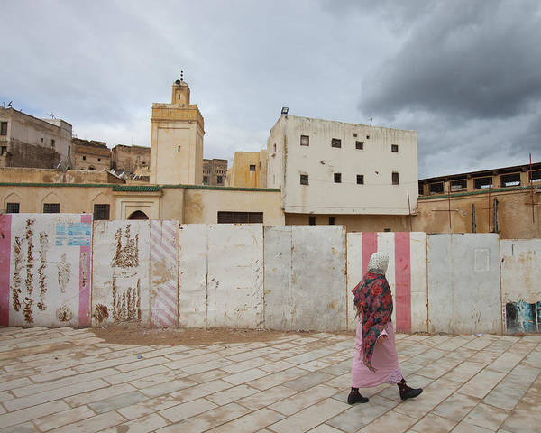 Real People Photograph - Woman Walking In Fez by Ashok Sinha