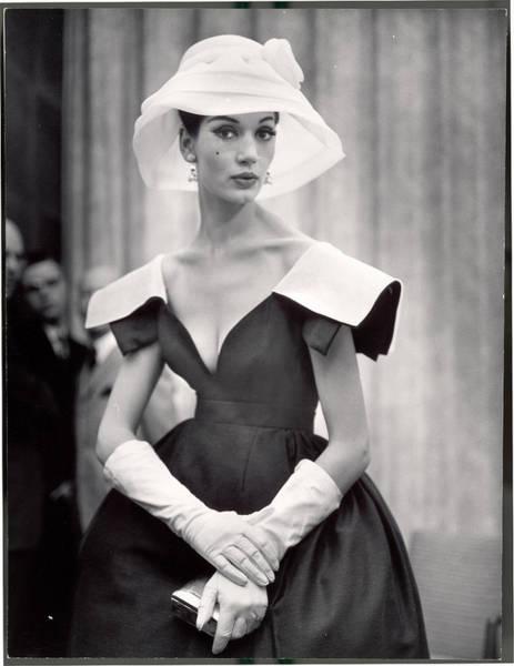 Photograph - Woman Wearing Wide Shoulder Fashion by Nina Leen