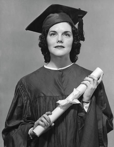 Education Photograph - Woman Who Graduated by George Marks