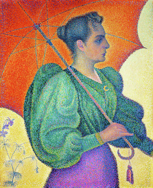 Neo-impressionism Wall Art - Painting - Woman With A Parasol - Digital Remastered Edition by Paul Signac