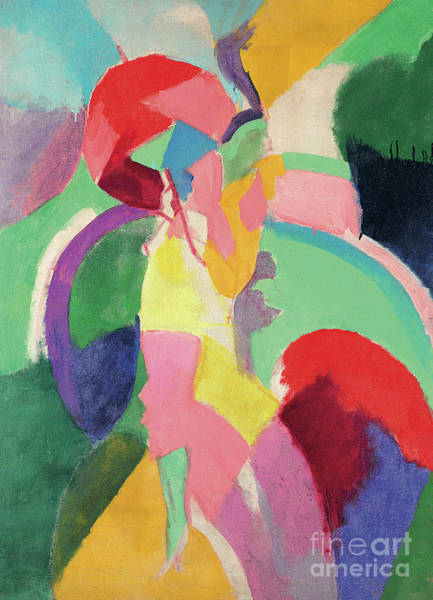 Wall Art - Painting - Woman With A Parasol Or La Parisienne by Robert Delaunay
