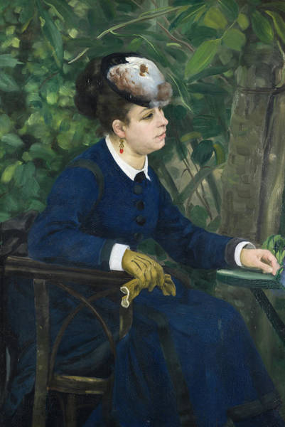 Wall Art - Painting - Woman With A Seagull Hat by Pierre-Auguste Renoir