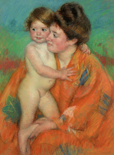 Wall Art - Painting - Woman With Baby, 1902 by Mary Cassatt