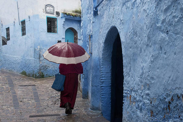Photograph - Woman With Blue Bag by Jessica Levant
