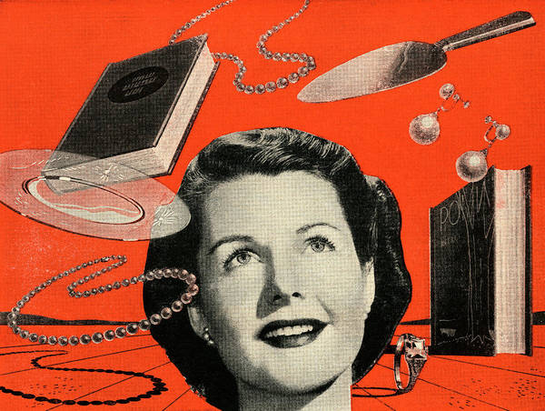 Archival Digital Art - Woman With Consumer Goods by Graphicaartis