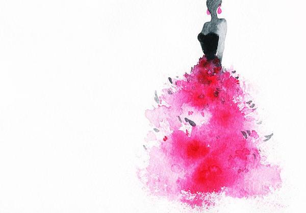 Wall Art - Digital Art - Woman With Elegant Dress .abstract by Anna Ismagilova
