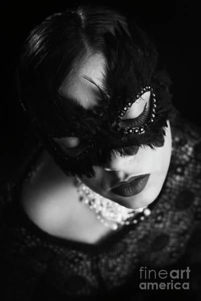 Dark Skin Photograph - Woman With Elegant Mask by Jelena Jovanovic