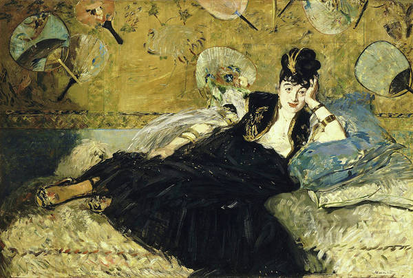 Manet Wall Art - Painting - Woman With Fans - Digital Remastered Edition by Edouard Manet