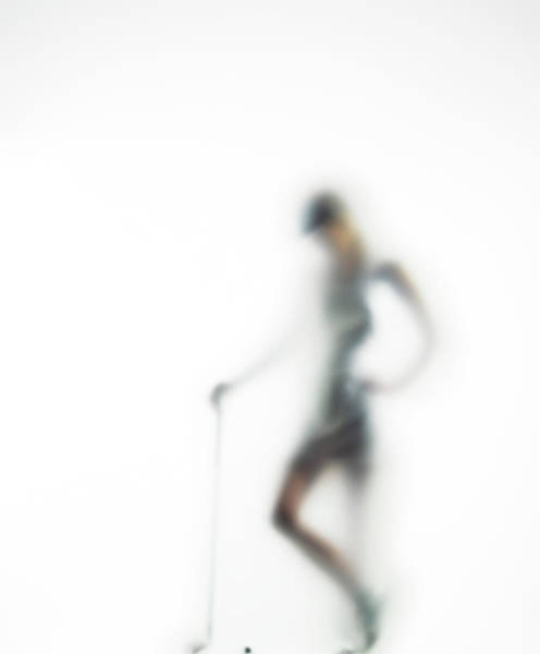 Copy Photograph - Woman With Golf Club Defocussed by Symphonie