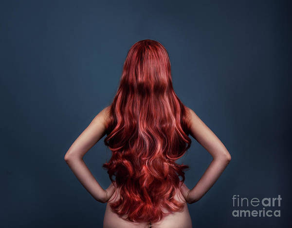 Photograph - Woman With Long Red Hair From Behind by Jelena Jovanovic