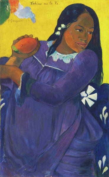 Gauguin Painting - Woman With Mango - Digital Remastered Edition by Paul Gauguin