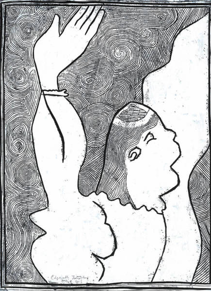 Relief - Woman With Top Of Head Cut Off by Artist Dot