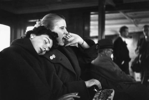 Covering Photograph - Woman Yawning by Bert Hardy
