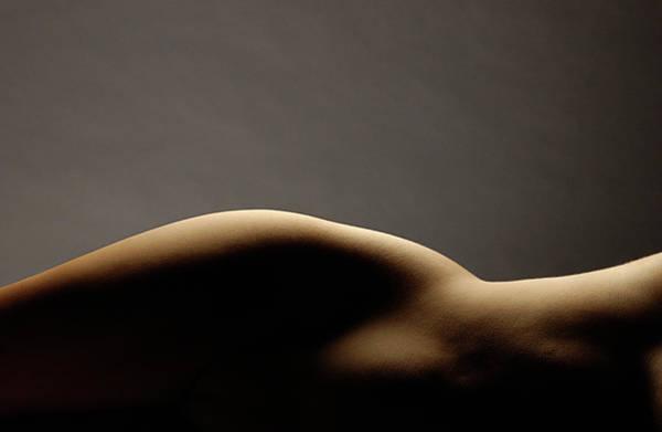 Hip Photograph - Womans Bare Hip by Steve Williams Photo