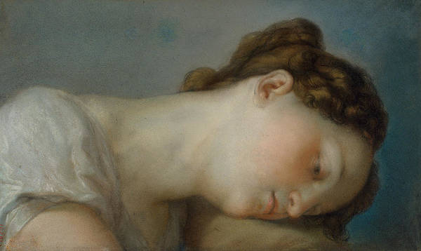 Pastel - Woman's Head by Vicente Lopez Portana