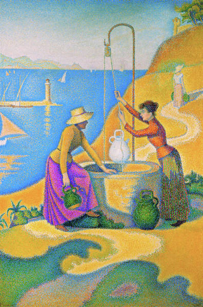 Wall Art - Painting - Women At The Well - Digital Remastered Edition by Paul Signac
