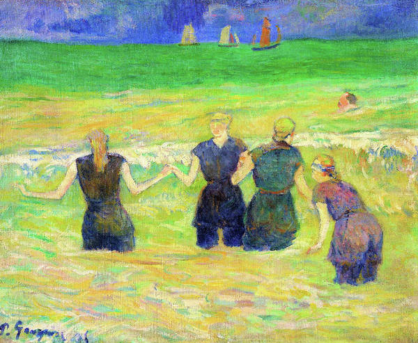 Wall Art - Painting - Women Bathing - Digital Remastered Edition by Paul Gauguin