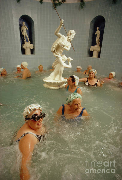 Photograph - Women Enjoy The Benefits Of A Heated Whirlpool. by Jonathan Blair