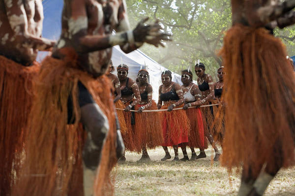 Indigenous People Photograph - Women From The Aurukun Dance Troupe by Andrew Watson