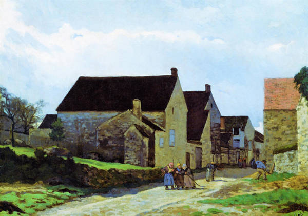 Wall Art - Painting - Women Going To The Woods - Digital Remastered Edition by Alfred Sisley