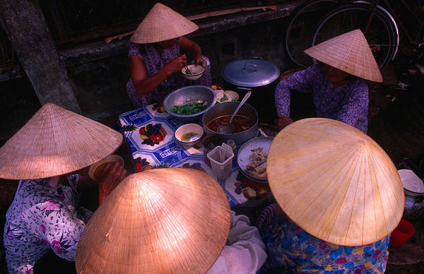 Quang Nam Province Photograph - Women In Traditional Conical Hats by John  Banagan