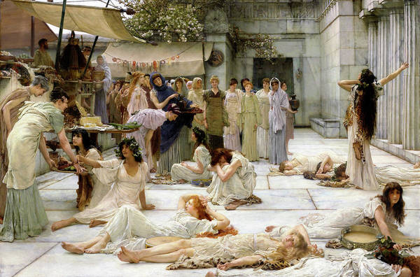 Wall Art - Painting - Women Of Amphissa - Digital Remastered Edition by Lawrence Alma-Tadema