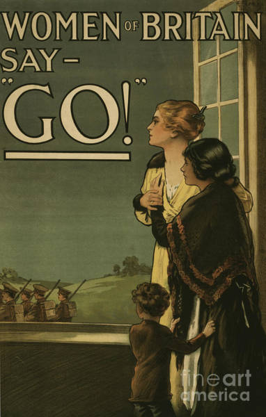 Wall Art - Painting - Women Of Britain Say Go by English School