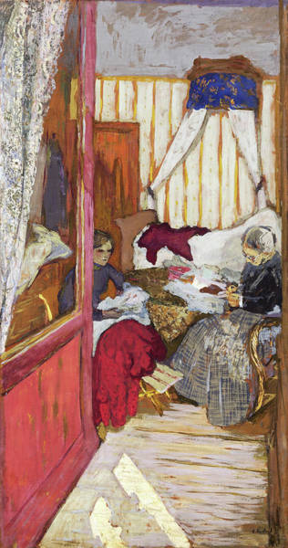 Embroidery Painting - Women Sewing - Digital Remastered Edition by Edouard Vuillard