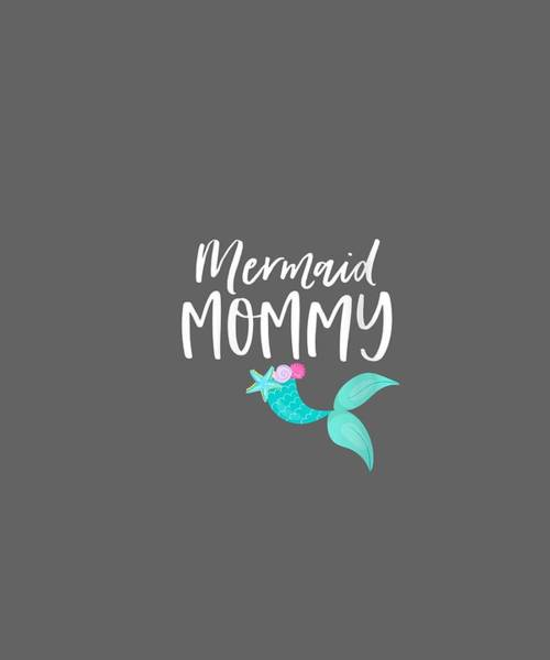 Outfit Digital Art - Womens Mom Birthday Party Outfit Dad Momma Girl Mermaid Mommy V-neck T-shirt by Unique Tees