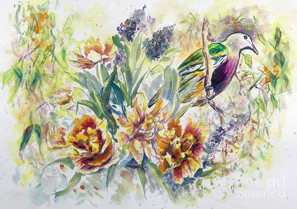 Painting - Wompoo Fruit Dove by Ryn Shell