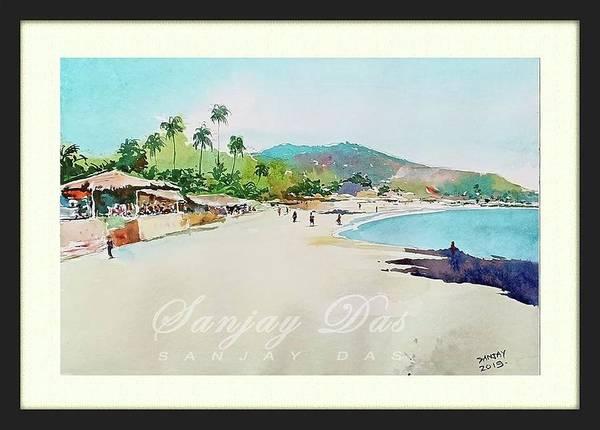 Wondeful Afternoon In Goa Beach Art Print