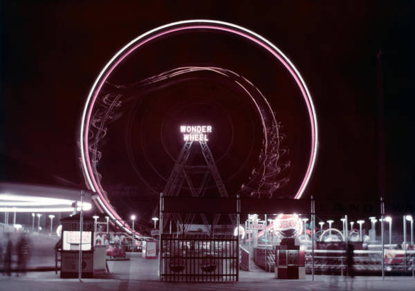 Photograph - Wonder Wheel by Andreas Feininger
